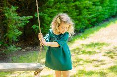 Little sister in green