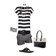 Black and white.  Kinda dressy. But yet comfy. From polyvore