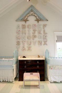 Adorable nursery for twins!