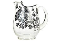 1960s Silver Poppy Glass Pitcher