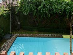Pool, from top balcony
