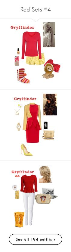 """""""Red Sets #4"""" by briony-jae ❤ liked on Polyvore featuring Aerie, George, Casetify, The Cambridge Satchel Company, Pinko, Christian Louboutin, ERIN Erin Fetherston, Miadora, Betsey Johnson and Kate Spade"""