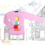 Pink longsleeve with suprise birthday cake