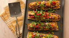 Take your favorite taco ingredients, and layer them up on French bread. So easy and tasty, too!