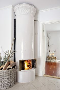 Really neat fireplace—have never seen anything like it❣ Beautiful Norway home❣ Scandinavian Interiors