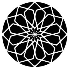 Square Rose Sacred Geometry Die-Cut Decal Car Window Wall Bumper Phone Laptop