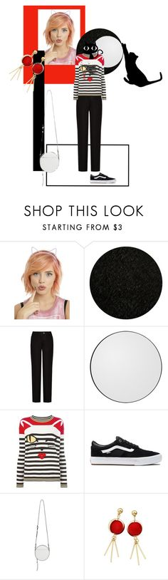 """cat on the moon by #roxariaone"" by roxariaone ❤ liked on Polyvore featuring Momeni, Acne Studios, Ermanno Scervino, Vans and Rebecca Minkoff"