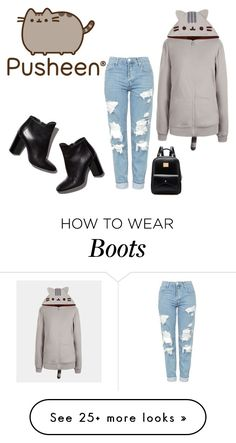 """""""Untitled #1702"""" by kirsimari on Polyvore featuring Pusheen, Topshop, Pierre Hardy, contestentry and PVxPusheen"""
