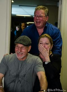 Captains Picard, Janeway, and Kirk. Too AWESOME!