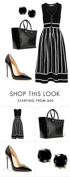 """style theory by Helia"" by heliaamado on Polyvore featuring moda, Maje, Victoria Beckham, Christian Louboutin e B. Brilliant"