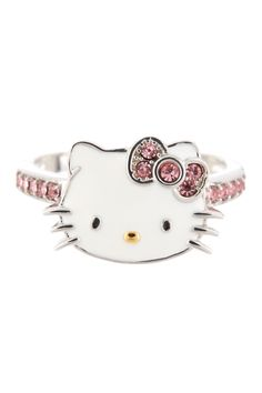 Sterling silver enamel Hello Kitty