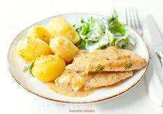 Indyk gotowany w sosie Polish Recipes, Kids Meals, Cantaloupe, Main Dishes, Turkey, Food And Drink, Chicken, Fruit, Dinner