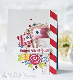 Happy 4th of July Card by Betsy Veldman for Papertrey Ink (May 2016)