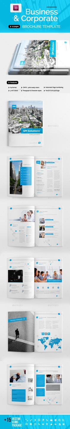 BiFold Brochure  Corporate Brochure Brochures And Brochure Template