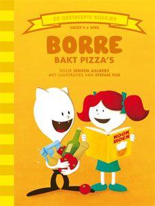 'Borre bakt pizza's' - Borre gaat samen met Radijs pizza's bakken. Ze maken ze helemaal zelf: het deeg, de saus, alles. Het worden pizza's voor echte fijnproevers! Als het allemaal gaat lukken natuurlijk, want Borre en Radijs zijn misschien geen pizzabakkers, maar koekenbakkers! (tekst: Jeroen Aalbers, illustraties: Stefan Tijs)