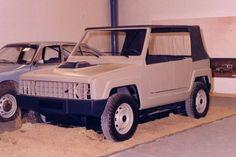 Citroën M7 : maquette d'un véhicule militaire confiée à Heuliez, 1973