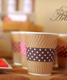 Polka Dot Coffee Cup Wrappers - the Party Artisan