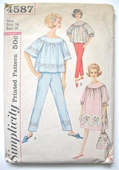 Vintage Simplicity 4587 from the 1960s. Bust 36 by Fancywork