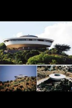 This is known as the 'UFO house'. It is in Roodepoort in South Africa. An old boyfriend showed it to me when I was 14. Pretty cool. You can read about it here: http://www.privateproperty.co.za/malachite-street-kloofendal-d5995.htm