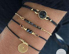 * Swarovski Navy Blue: € * Little Cubes – Colorful Blue: € * Dragonfly Bracelet – Sparkly Blue: € * Boho Ornament – Navy Blue: € Total: € = € Cute Bracelets, Gemstone Bracelets, Handmade Bracelets, Bracelet Set, Jewelry Bracelets, Jewelery, Stackable Bracelets, Bohemian Bracelets, Silver Bracelets