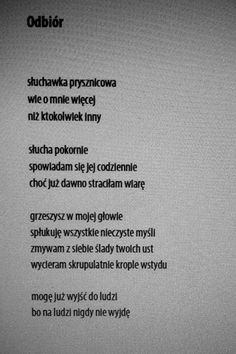 Maria Goniewicz The Words, Polish Words, Teen Wallpaper, Literature Quotes, Poem Quotes, Motivation Inspiration, Deep Thoughts, Quotations, Texts