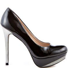 Revel heels Black Patent brand heels Zigi Soho