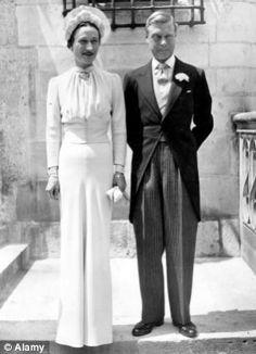 Edward VIII with Wallis Simpson on their wedding day