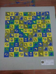 college's assignment; nirmana 2D #composition #gradation #shapes
