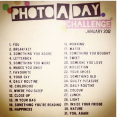 January photo a day challenge