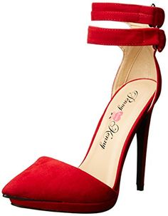 Penny Loves Kenny Women's Narly Dress Pump, Red Velvet, 7 M US