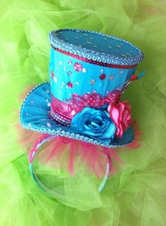 Gorgeous Mad Hatter Top Headband Fascinator in your by LaDeeDah2
