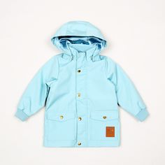 Pico Jacket - Light Blue / Mini Rodini - Söt by Sweden Kids Mode, Canvas Jacket, Kid Styles, Boy Outfits, Organic Cotton, Cool Style, Kids Fashion, Light Blue, Raincoat