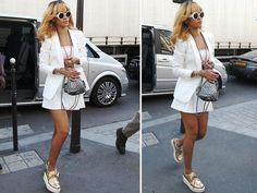 Rihanna Chanel Silver Backpack Back Mini Bag