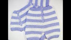 Pantalon de bebe veraniego a crochet a juego con jersey