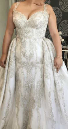 Beaded plus size wedding dresses go not have to cost a fortune. We can make this design for you for less than you think. We are US dress designers who specialize in affordable custom for Plus Size Wedding Gowns, Wedding Gowns With Sleeves, American Dress, Custom Dresses, Bridal Dresses, Designer Dresses, Marie, Evening Dresses, Summer Dresses