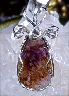 Wire Wrapped MELODY'S STONE Super Seven Pendant by CrawfordStones