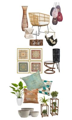 """ETHNIC ROOM"" by chesyj on Polyvore featuring interior, interiors, interior design, home, home decor, interior decorating, Pier 1 Imports, Palecek and Williams-Sonoma"