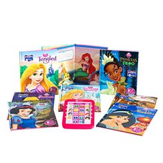 Disney Princess Electronic Me Reader and Books Set, Multicolor