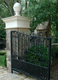 ~ Living a Beautiful Life ~ Stephen Fuller Designs - Tudor Revival Gallery Front Gates, Entrance Gates, Front Fence, Driveway Entrance, Driveway Ideas, Gate Pictures, Tudor House, Tudor Cottage, Old Gates