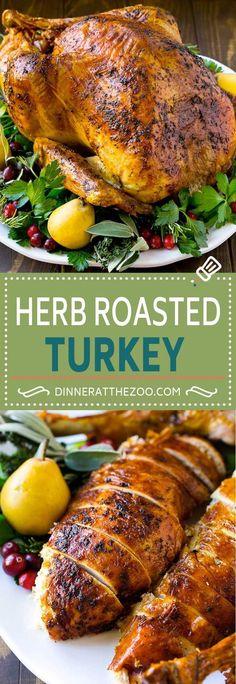 Herb Roasted Turkey Recipe   Baked Turkey   Thanksgiving Turkey   Christmas Turkey   Holiday Turkey Recipe   Butter Roasted Turkey Recipe
