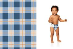 Honest Diapers in Navy Flannel | honest.com/baby/honest-diapers