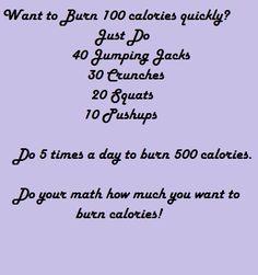 Burn 100 Calories Quickly!