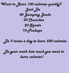 Burn 100 Calories Quickly!