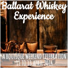 Have you got your tickets to the Ballarat Whiskey Experience yet? Running from 11 to 13 April, you can choose from masterclasses, a gourmet whiskey-matched feast or a degustation dinner (or do it all!). Tickets start from just $30. Find out more here: http://visitballarat.com.au/events/food-wine/ballarat-whiskey-experience.aspx