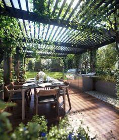 08 Awesome Backyard Pergola Plan Ideas #pergolaplans #PergolasPatio