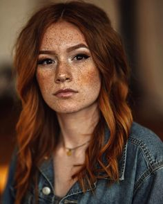 Red haired lesbian freckled