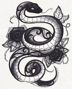 1125855 Dark Creatures - Snake design (UT11784) from UrbanThreads.com largest size