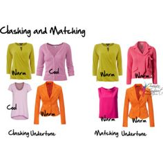 Clashing and matching undertone