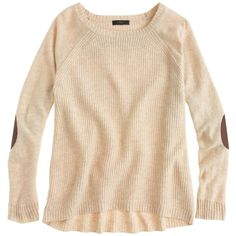 J.Crew Elbow-patch sweater found on Polyvore