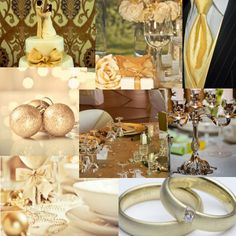 Gold Wedding Decor - Great tips on how to add gold to your wedding decor